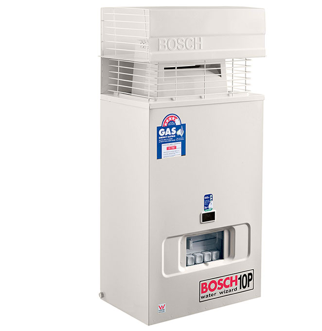 how to start bosch gas water heater