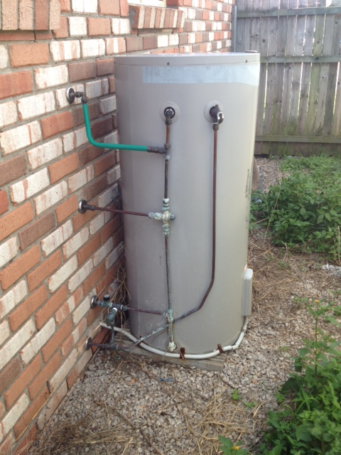 rheem electric hot water system. here is a 12 year old rheem electric hot water system at morayfield in brisbane that had leaking tank, unfortunately no way to repair